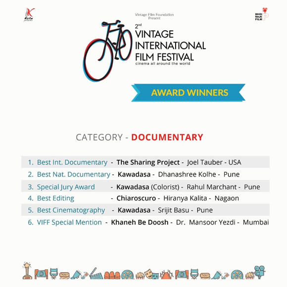 "The Sharing Project movie wins ""Best International Documentary Film"" at the Vintage International Film Festival."